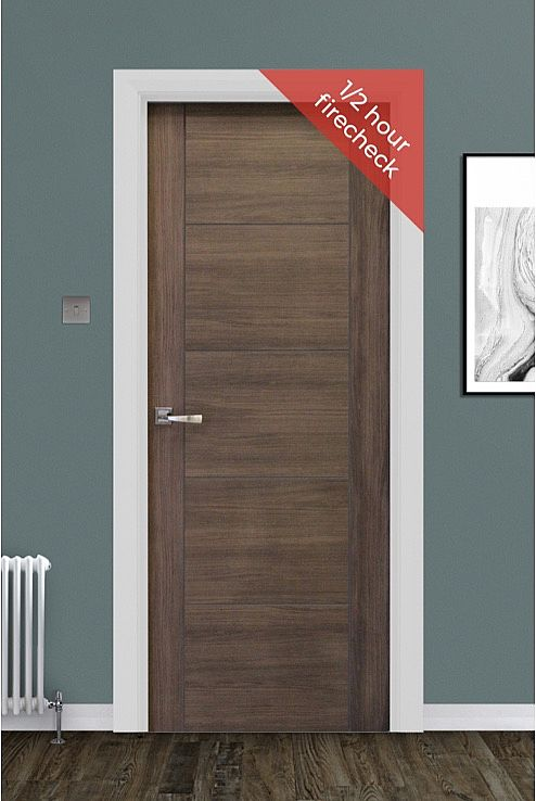 Vancouver Walnut Laminate Door 1/2Hr FC