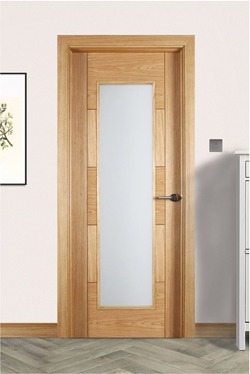 Monza 1 Lite Unglazed White Oak Door (40mm)