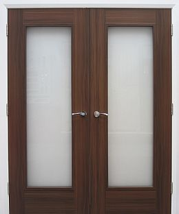 Shaker 1-Lite Laminate Walnut