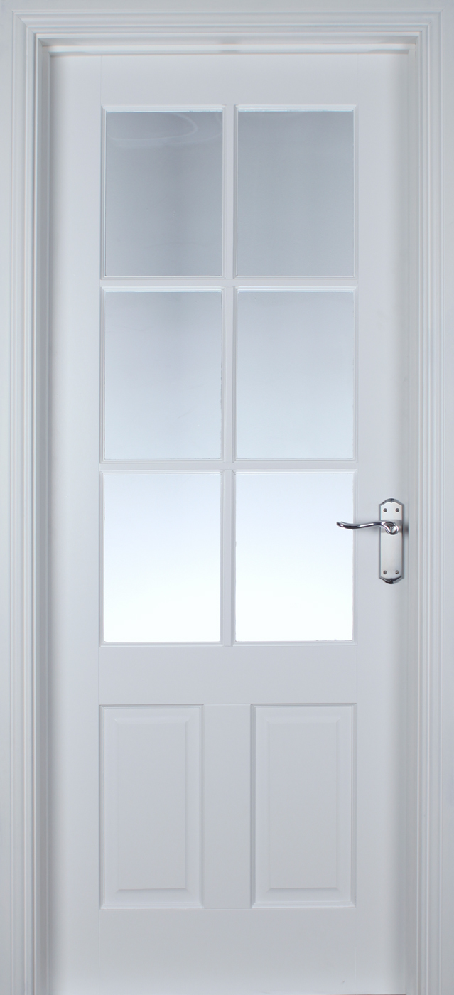 Cambridge 6 Lite White Primed Pre Glazed 40mm Internal