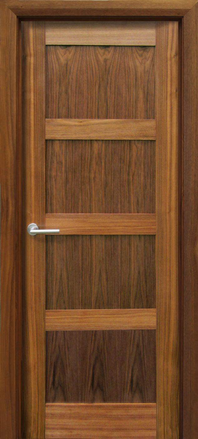 Trade Spec Contemporary 4 Panel Walnut Door (40mm) & Trade Spec Contemporary 4 Panel Walnut Door (40mm) | Internal Doors ...