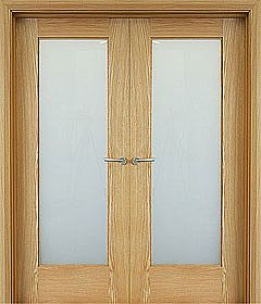 Shaker 1 Lite (40mm) shown as double doors