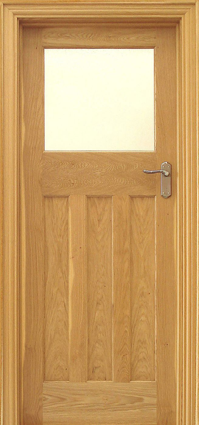 Edwardian 1 Lite Rustic Oak Door 40mm Internal Doors