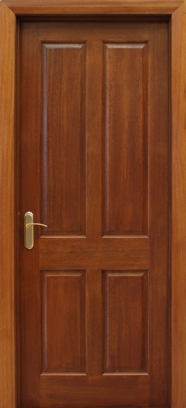 4 panel mahogany door 40mm internal doors mahogany doors for Interior panel doors