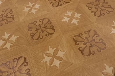Inlay Oak Laminate Flooring