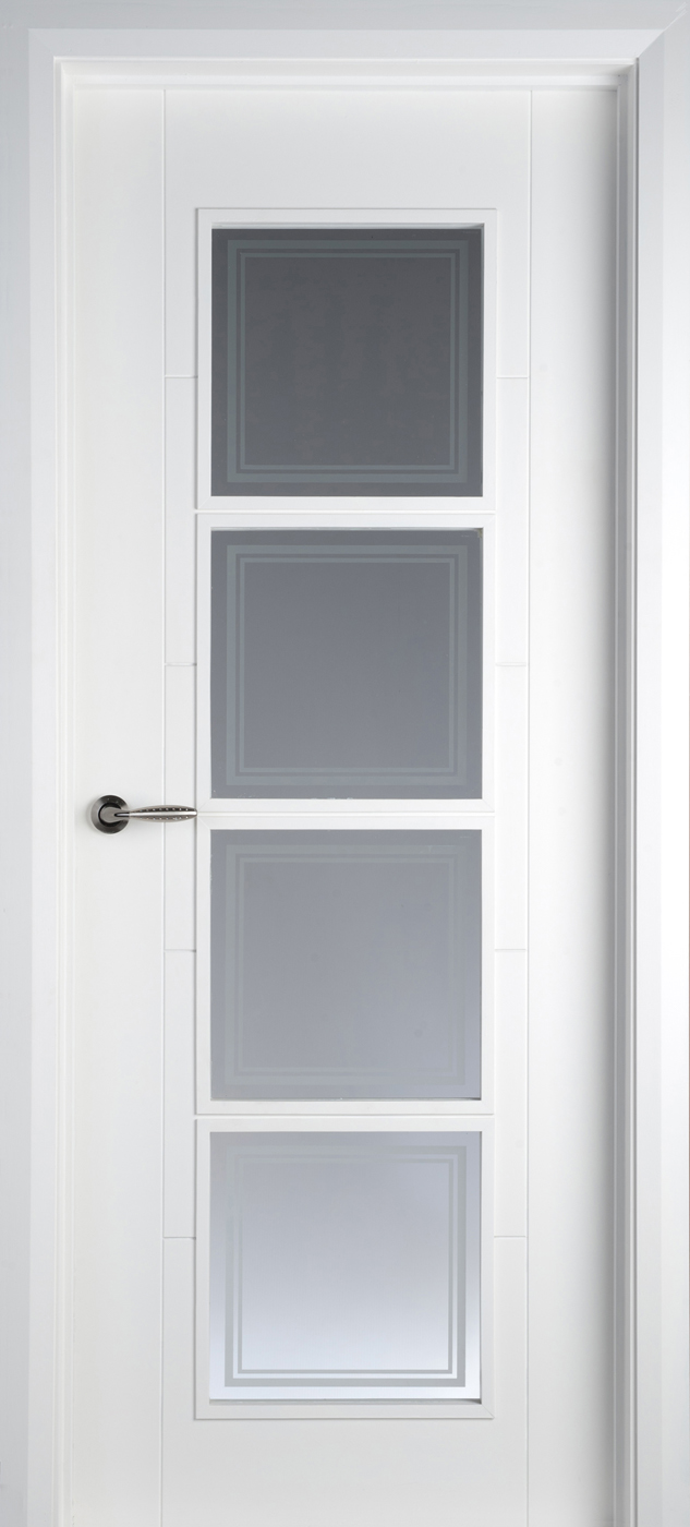 Iseo 4 Lite White Primed Pre Glazed 40mm Internal Doors White